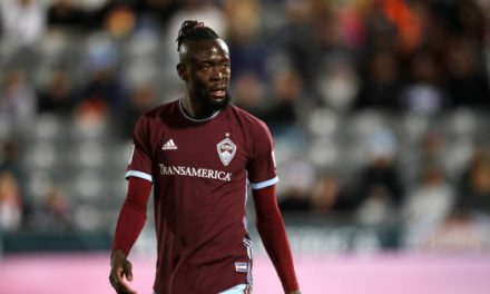 Kei Kamara sent off in Rapids Colorado's 2-0 defeat
