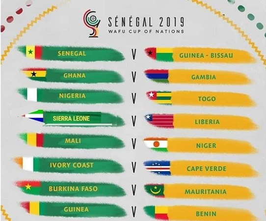 Senegal 2019: WAFU Cup of Nations daily fixtures schedule