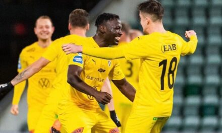 Alhassan Kamara nets as Halmstad promoted to Swedish Allsvenskan