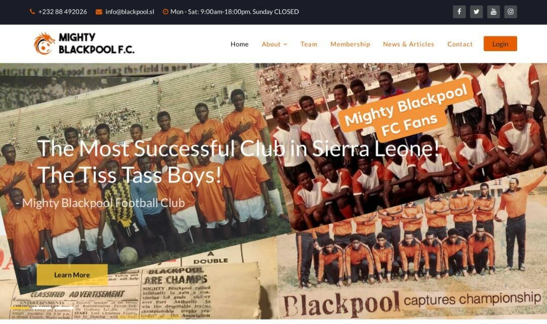Mighty Blackpool launches a brand-new website