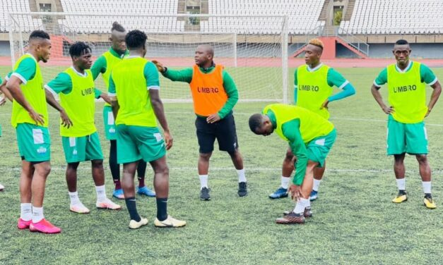 Sierra Leone first training at the Setsoto stadium