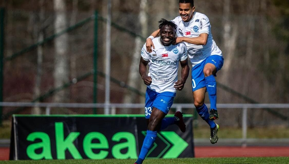 Striker Alhassan Kamara opens Värnamo league account