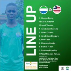 Sierra Leone U15s first XI