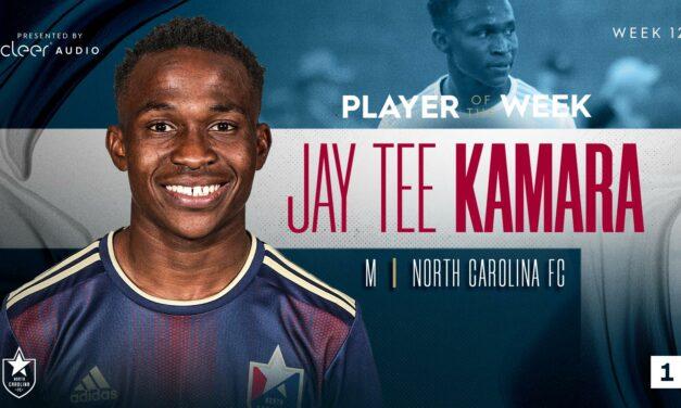 Jay Tee Kamara named USL League One Player of the Week