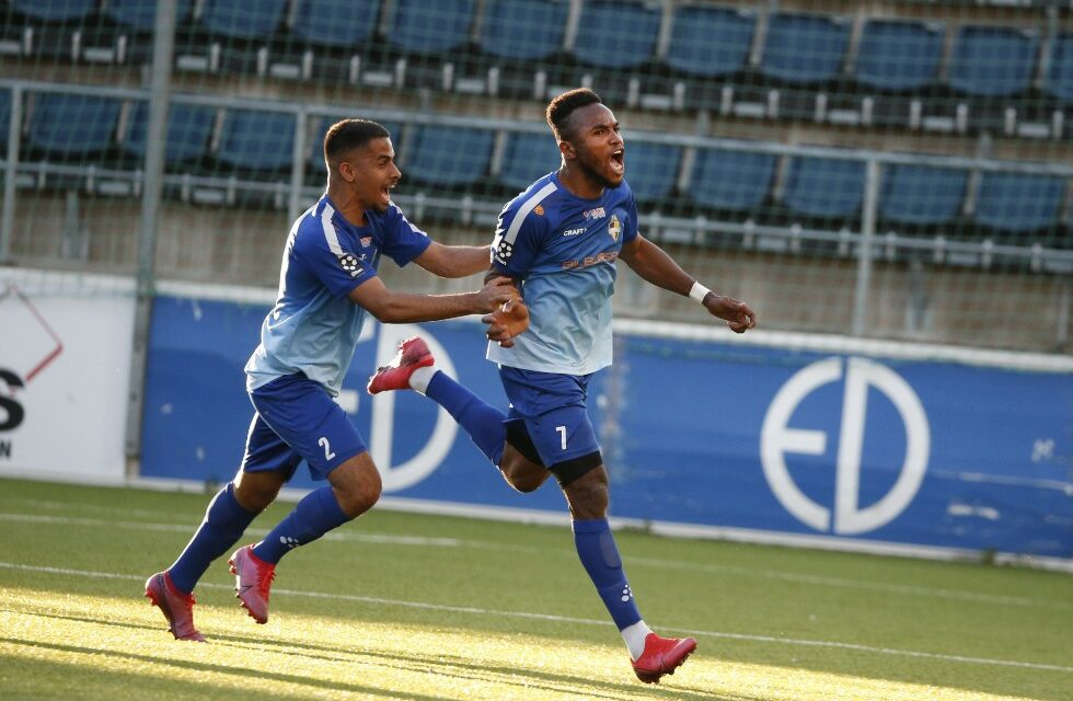 Christian Moses scores first Värnamo goal on debut