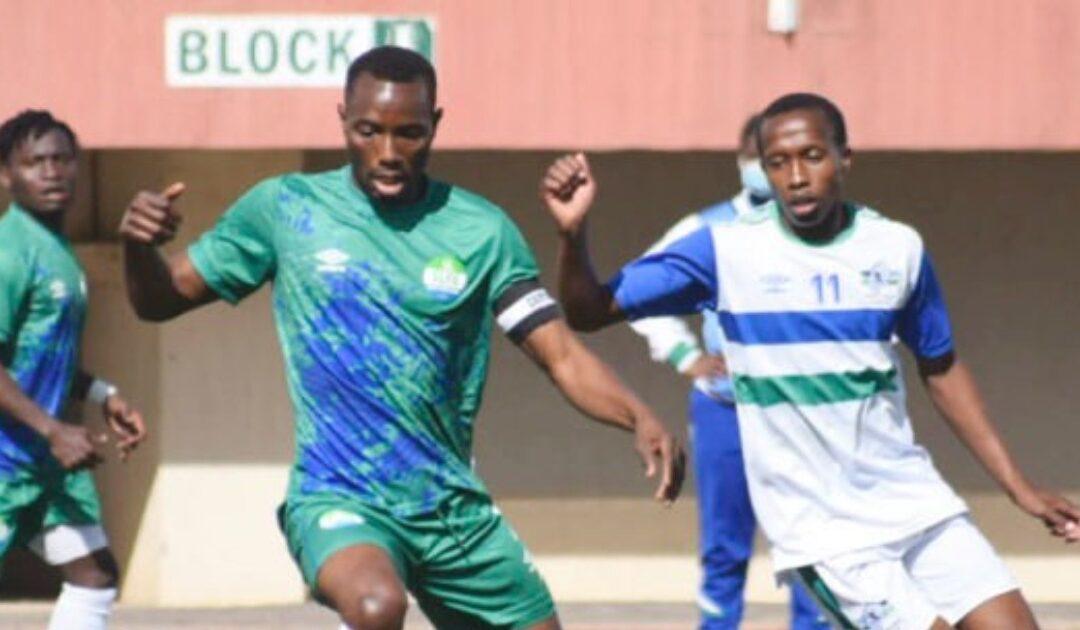 Sierra Leone midfiedler Mohamed Medo kamar was in action against Lesotho