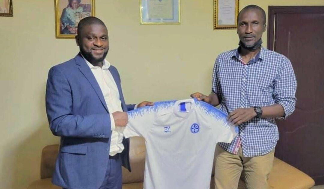 Old Edwardians new coach Abdulai Bah and club Chairman Emmanuel Saffa Abdulai Esq