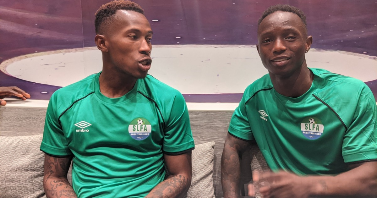 Kwame Quee Víkingur Reykjavík and  SC Cambuur winger Issa Kallon in Morocco